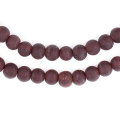 Dark Brown Frosted Sea Glass Beads (7mm)