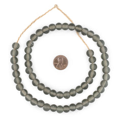 Grey Frosted Sea Glass Beads (9mm)