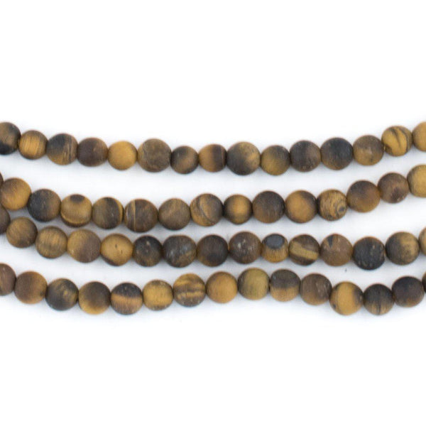 Matte Tiger Eye Beads (4mm) - The Bead Chest