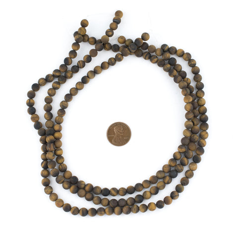 Matte Tiger Eye Beads (6mm) - The Bead Chest