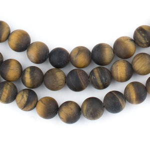 Matte Tiger Eye Beads (8mm) - The Bead Chest