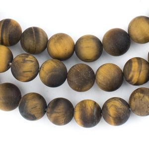 Matte Tiger Eye Beads (10mm) - The Bead Chest
