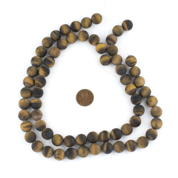 Matte Tiger Eye Beads (12mm)