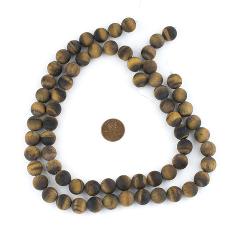 Matte Tiger Eye Beads (12mm) - The Bead Chest