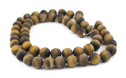 Matte Tiger Eye Beads (14mm) - The Bead Chest