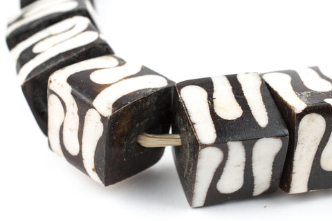Traditional Batik Bone Beads (Cube) - The Bead Chest