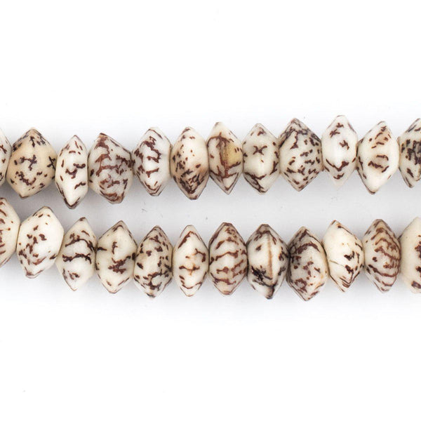 Brown & Beige Natural Saucer Seed Beads (10mm) - The Bead Chest