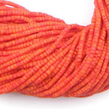 Coral Glass Afghani Tribal Seed Beads