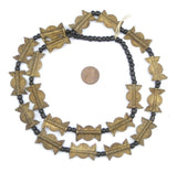 Brass Baule Beads, Sun Moon Design (25x17mm)