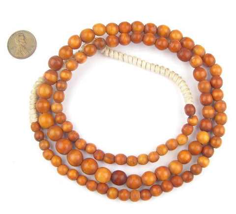 Image of Honey Brown Nigerian Round Camel Bone Beads - The Bead Chest