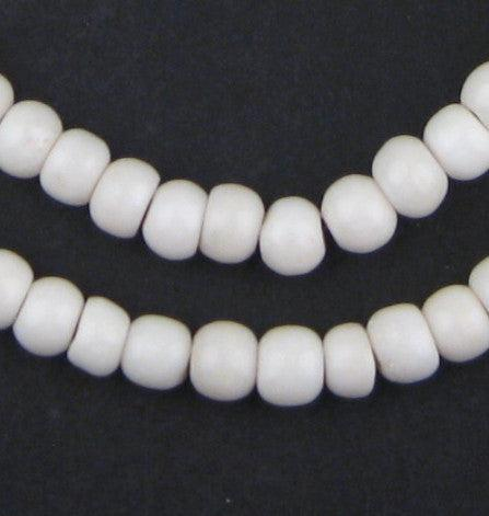 Round White Bone Mala Beads (6mm) - The Bead Chest
