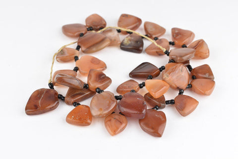 Hot Deal: Carnelian Stone Medallion Beads (20-27x17-25) - The Bead Chest