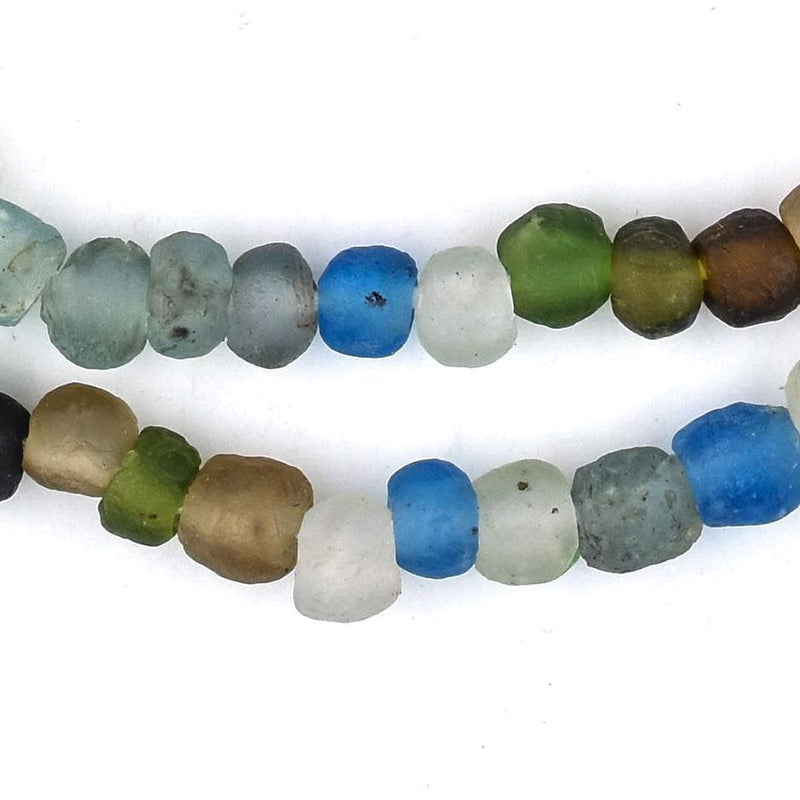 Multicolor Recycled Glass Beads (8mm) - The Bead Chest