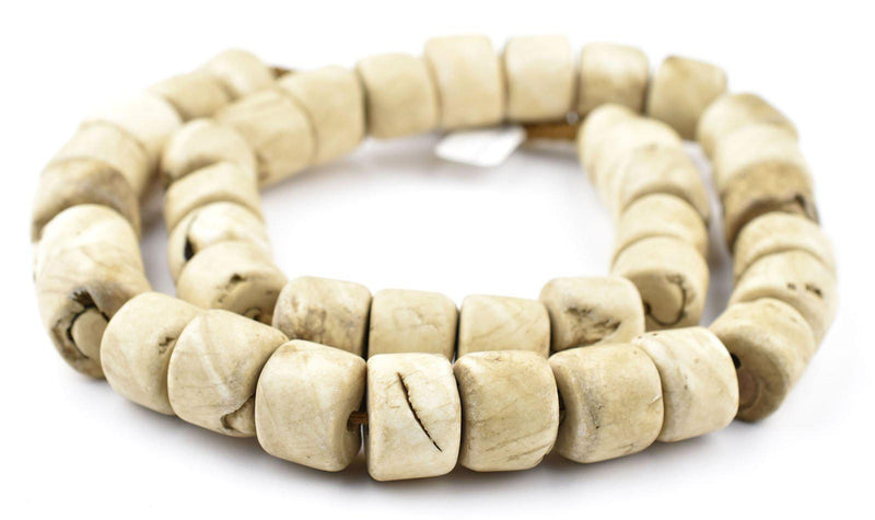 Vintage Cylinder Naga Conch Shell Beads (Long Strand) - The Bead Chest