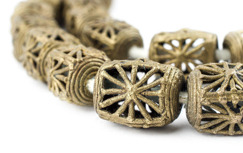Rectangular Ivory Coast Brass Filigree Beads (20x17m) - The Bead Chest