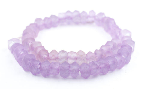 Candied Purple Faceted Recycled Java Sea Glass Beads - The Bead Chest
