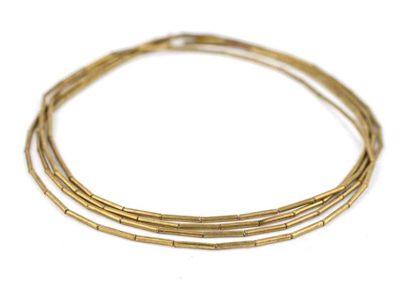 Brass Tube Beads (1.5mm) - The Bead Chest