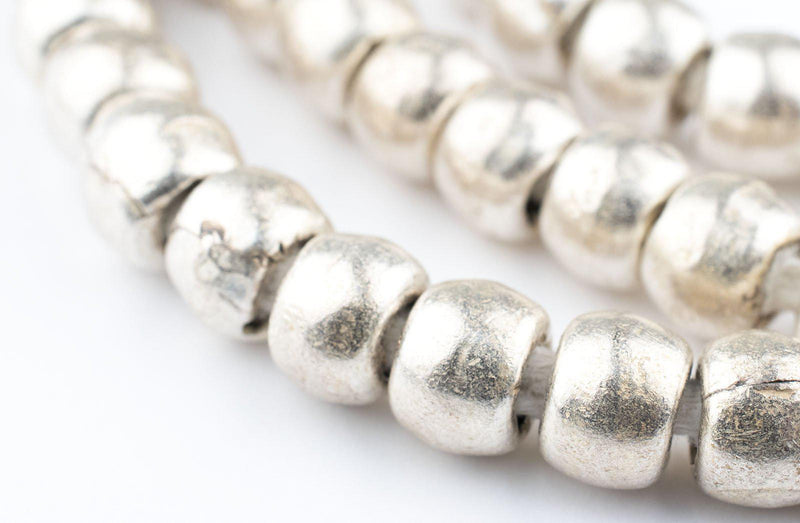Silver Ethiopian Padre Beads (8mm) - The Bead Chest