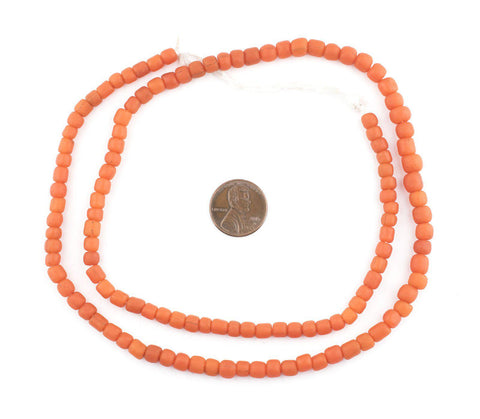 Image of Vintage Coral Java Glass Beads - The Bead Chest