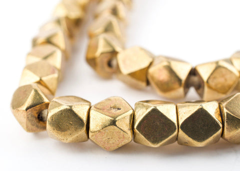 Antiqued Brass Faceted Diamond Cut Beads (7mm) - The Bead Chest