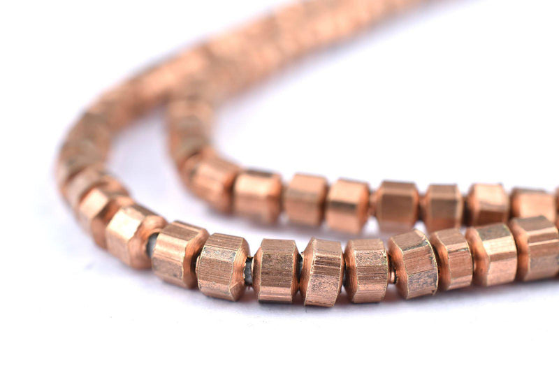 Faceted Copper Prism Beads (2x4mm) - The Bead Chest