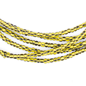Tiny Yellow Jacket Glass Chevron Beads (3mm) - The Bead Chest