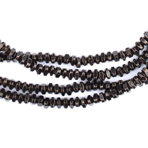 Blackened Silver Triangle Heishi Beads (4mm) - The Bead Chest