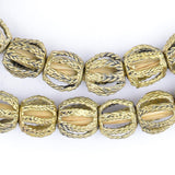 Twisted Cage Brass Filigree Beads (15mm)