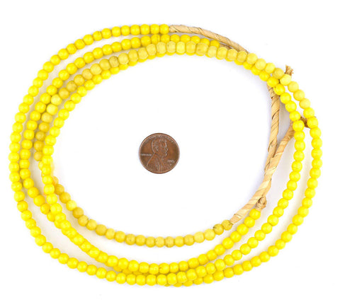 Yellow Baby Padre Olombo Beads - The Bead Chest