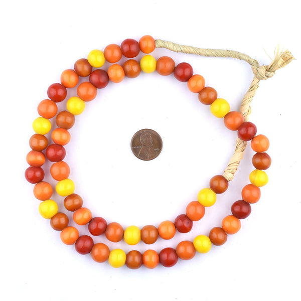 Mixed Kenya Amber Resin Beads (12mm)