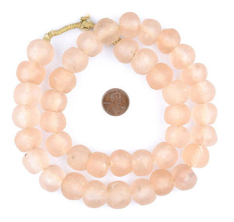 Rose Recycled Glass Beads (18mm) - The Bead Chest