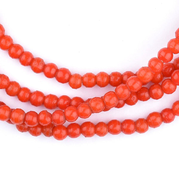 Bright Red Baby Padre Olombo Beads - The Bead Chest