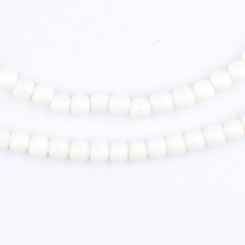 White Bone Nugget Beads (5mm) - The Bead Chest