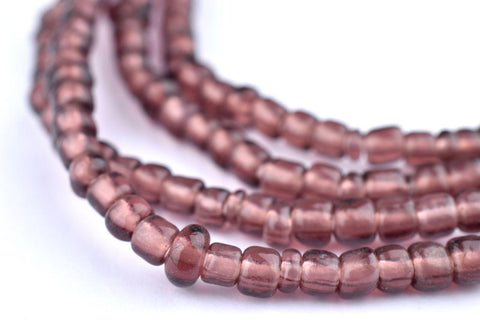 Lavender Purple Ghana Glass Beads - The Bead Chest