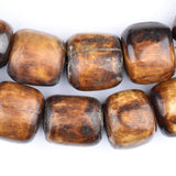 Kenya Brown Bone Beads (Barrel) (Long Strand)