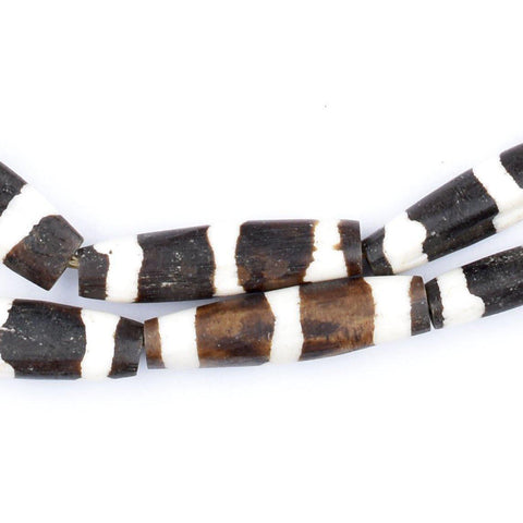Porcupine Batik Bone Beads (Elongated) - The Bead Chest