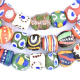 Bright Medley Krobo Glass Beads