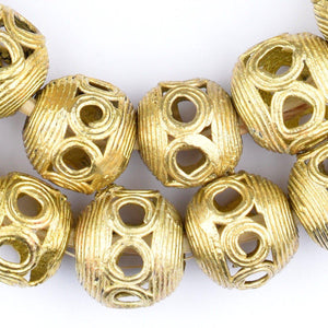 Round Eye Brass Filigree Beads (18mm) - The Bead Chest