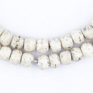 Speckled Round White Bone Beads (8mm) - The Bead Chest