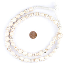 White Howlite Skull Beads (12mm)