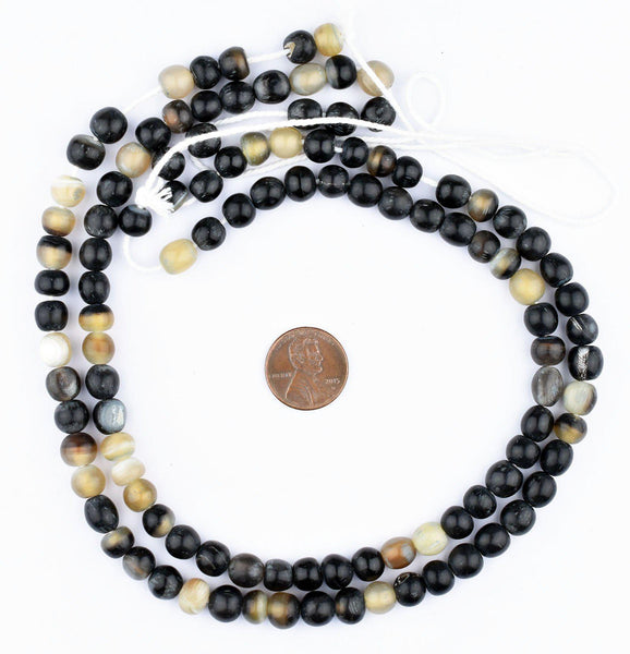 Spherical Natural Horn Beads (8mm)