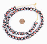 Black & Red Eye Krobo Beads