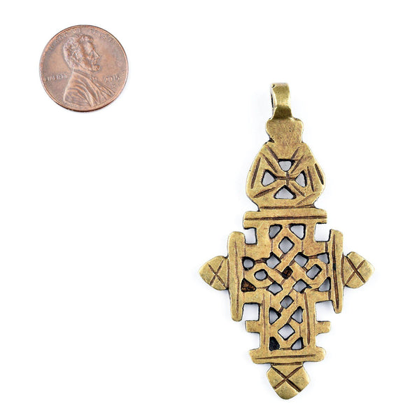 Bronze Ethiopian Coptic Cross (Medium)