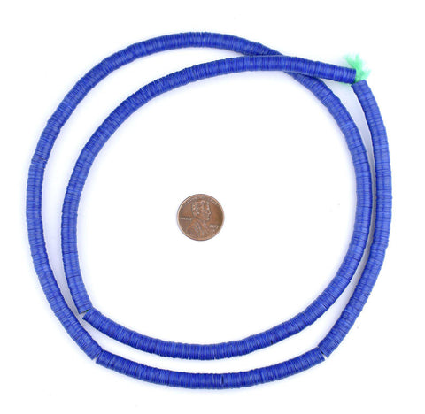 Image of Cobalt Blue Vinyl Phono Record Beads (6mm) - The Bead Chest