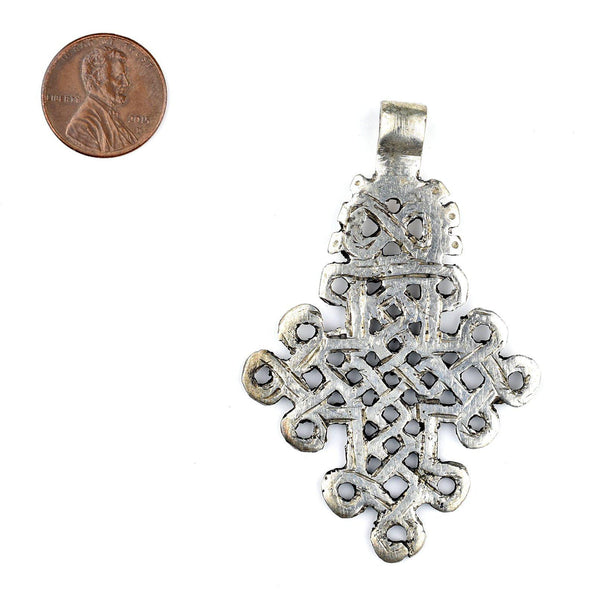 Silver Ethiopian Coptic Cross (Large)