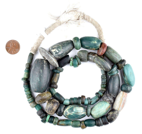 Ancient African Serpentine Stone Beads