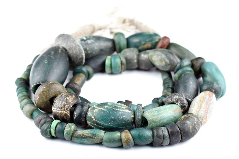 Ancient African Serpentine Stone Beads - The Bead Chest
