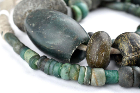 Image of Ancient African Serpentine Stone Beads - The Bead Chest