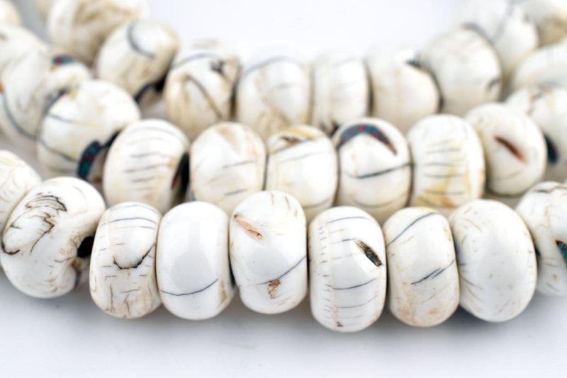 Disk Naga Conch Shell Beads (14mm) - The Bead Chest