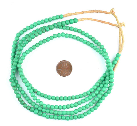 Aqua Green Baby Padre Olombo Beads - The Bead Chest